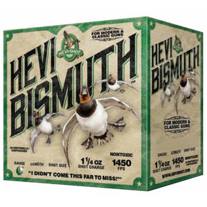 "Hevi-Shot Hevi Bismuth Waterfowl Ammunition 12 Gauge 25 Rounds 2-3/4"" #4 Hevi-Bismuth Shot 1450 fps"