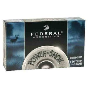 "Federal Power-Shok 10ga 3-1/2"" Rifled Slug 1-3/4oz 5 Rnd Box"