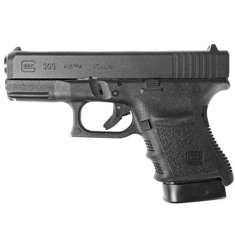 "GLOCK 30S Gen 3 .45 ACP Semi Auto Pistol, 3.77"" Barrel 10 Rounds, Black"