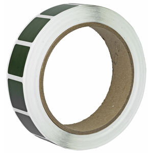 """Action Target Roll of 1000 7/8"""" Square Target Paster Dark Green"""