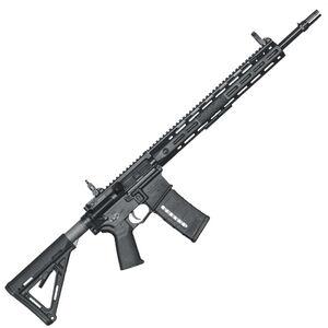 "Knights Armament Company SR-15 E3 LPR Mod 2 M-LOK Semi Auto Rifle 5.56 NATO 18"" Barrel 30 Round URX 4 M-LOK Hand Guard MOE Stock Adjustable Sights Matte Black Finish 31973"