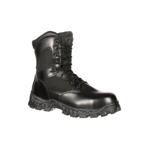 "Rocky International Alpha Force 8"" Side Zip 400G Insulated Waterproof Public Service Boot Size 9 Black"