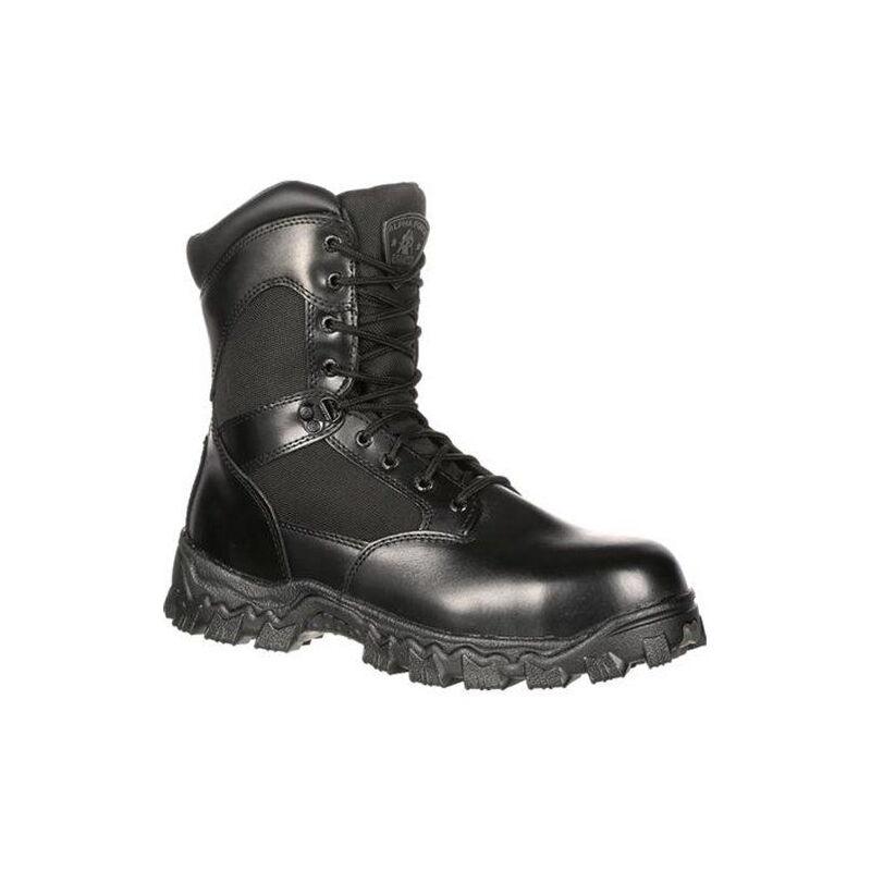 "Rocky International Alpha Force 8"" Side Zip 400G Insulated Waterproof Public Service Boot Size 9 Black"