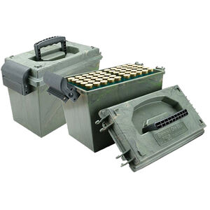 "MTM Case-Gard Shotshell Dry Box 12 Gauge up to 3.50"" Shells Holds 100 Total Shells Green Wild Camo SD-100-12-09"