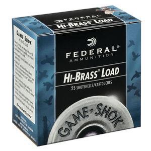 """Federal Game Shok Upland Hi-Brass Load 20 Gauge Ammunition 2-3/4"""" #4 Lead Shot 1 Ounce 1220 fps"""