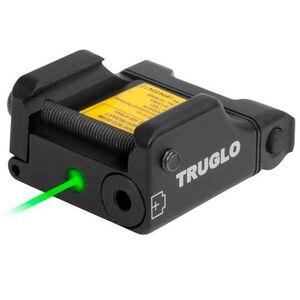 TRUGLO Micro Tac Tactical Micro Green Laser 2x LR626 Batteries Picatinny Mount Aluminum Black TG7630G
