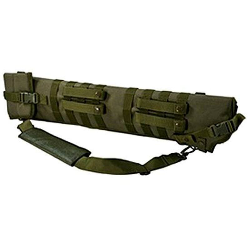 NcSTAR Tactical Shotgun Scabbard MOLLE Compatible Shoulder Carry or can be mounted on other MOLLE Gear Nylon Green