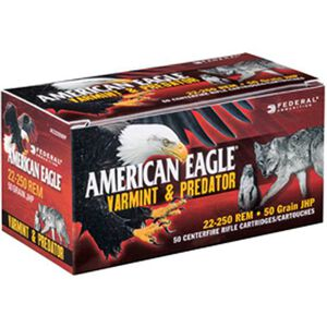 Federal American Eagle .243 Winchester Ammunition 40 Rounds JHP 75 Grains AE24375VP