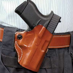 """DeSantis Mini Scabbard Holster fits 1911 with 4 to 4.25"""" Barrels Up To 1.5"""" Belts Leather tan"""
