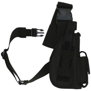 "Fox Outdoor SAS Tactical Leg Holster 4"" Right Hand Nylon Black 58-01"