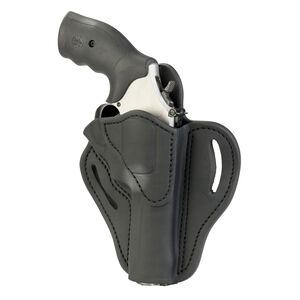 1791 Gunleather RVH-2S OWB Belt Holster for K Frame Revolvers Right Hand Draw Leather Black