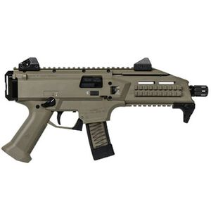 "CZ Scorpion EVO 3 S1 Pistol Semi Auto Pistol 9mm Luger 7.72"" Barrel 20 Rounds Low Profile Fully Adjustable Aperture/Post Fiber-Reinforced Polymer Frame Flat Dark Earth"