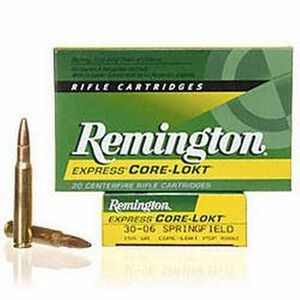 Remington Express .30-06 Springfield Ammunition 20 Rounds 150 Grain Core-Lokt PSP Soft Point Projectile 2910fps