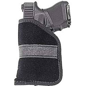 Uncle Mike's Pocket Holster Size 2 Small .380 Autos Ambidextrous Polymer Suede Black 87442