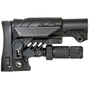 CAA ARS Sniper AR-15 Stock with Monopod Leg, Black
