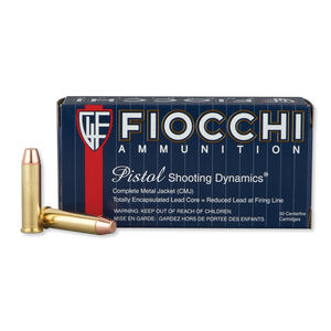 FIOCCHI .357 Magnum Ammunition 50 Rounds CMJ FP 158 Grains 357GCMJ