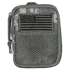 """Voodoo Tactical MOLLE Tactical Compact BDU Wallet 5.5"""" x 4.5"""" Fob Clip/Lanyard Strap Zipper Closure Nylon Army Digital 843675000"""