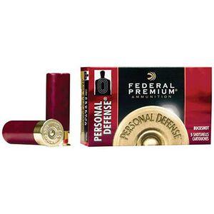"""Federal Personal Defense 20 Gauge Ammunition 5 Rounds 2.75"""" 24 Pellets #4 Buck 1,100 Feet Per Second"""