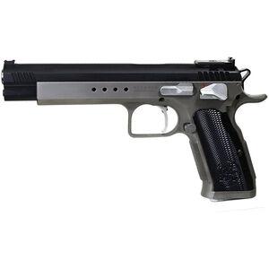 "EAA Tanfoglio Witness Match Xtreme .40 S&W Semi Auto Pistol 6"" Barrel 14 Rounds Duo-Tone Silver/Black Ceramic Coating"
