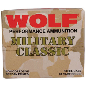 Wolf Performance Military Classic .30-06 Springfield Ammunition 500 Rounds FMJ 168 Grains