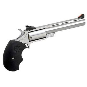 """North American Arms Mini Master Revolver .22 Magnum/.22 LR 4"""" Barrel 5 Rounds Fixed Sights Synthetic Grips Stainless Steel NAA-MM-C"""