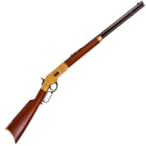 """Cimarron 1866 Yellowboy Lever Action Sporting Rifle .44 Special 24"""" Barrel 12 Rounds Brass Receiver Wood Stock Blued Finish"""