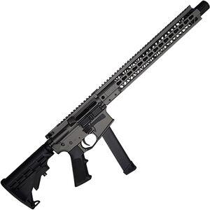 "Brigade Manufacturing BM-9 9mm Luger AR-15 Semi Auto Rifle 16"" Barrel 33 Rounds UNI-Rail Handguard Collapsible Stock Tungsten Gray Finish"