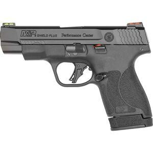 "S&W Performance Center M&P 9 Shield Plus 9mm Luger Semi-Auto Pistol 4"" Barrel 13 Rounds Fiber Optic Sights Black"