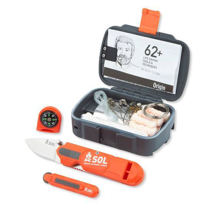 Adventure Medical SOL Origin Pocket Survival Kit ABS Plastic Orange 0140-0828