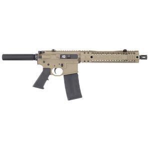 "Black Rain Ordnance Fallout 15 5.56 NATO AR-15 Semi Automatic Pistol 10.5"" Barrel 30 Round M-LOK Slim Hand Guard Pistol Buffer Tube Flat Dark Earth"
