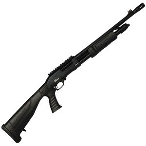 "Iver Johnson PAS12 Self Defense Pump Action Shotgun 12 Gauge 18"" Barrel 4 Rounds Polymer Pistol Grip Stock with Picatinny Rail Blued Finish GPAS12PG"