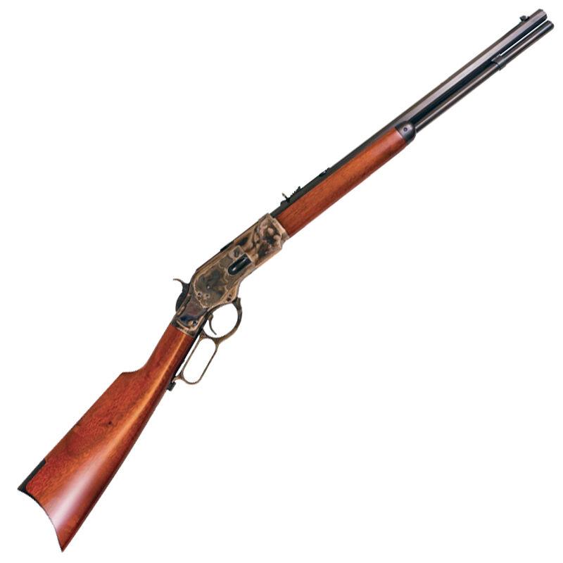 """Cimarron 1873 Short Rifle .32 WCF Lever Action Rifle 20"""" Octagon Barrel 10 Rounds Case Hardened Frame Walnut Stock/Forearm Blued Finish"""