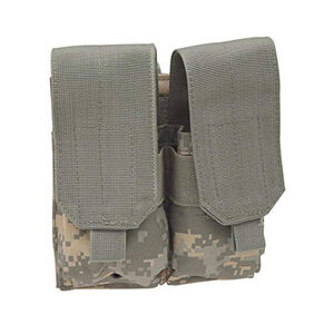 Voodoo Tactical AR-15/M4/M16 Double Magazine Pouch Hook/Loop Flap PALS Webbing Compatible Nylon Army Digital