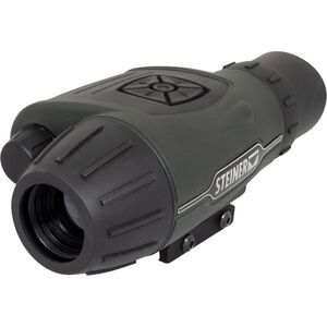 Steiner Cinder Thermal Optic 3x Optical Magnification/4x Digital Zoom OLED Display Rechargeable 18650 or CR123A Batteries Picatinny Rail Mount Green/Black
