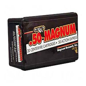 Magnum Research .50 AE 300 Grain HP 20 Round Box