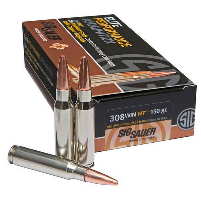 SIG Sauer .308 Winchester Ammunition 20 Rounds Copper OTM 150 Grains