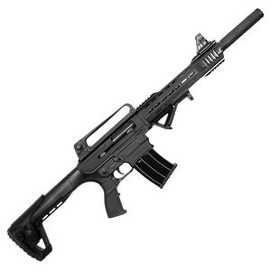 "Century Dynamics PK-12 Tactical Semi Auto Shotgun 12 Gauge 3"" Chamber 18.5"" Barrel 5 Rounds AR-12 Style Black"