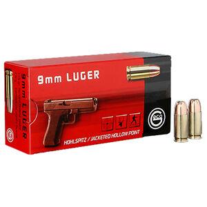 GECO 9mm Luger Ammunition 50 Rounds 115 Grain Hollow Point