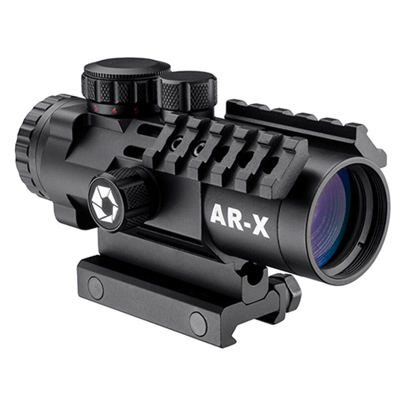 Barska AR-X 3x32mm Riflescope Illuminated Mil-Dot Reticle 1/2 MOA Black
