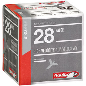 "Aguila High Velocity Bird Shot 28 Gauge Ammunition 25 Rounds 2-3/4"" #9 Lead 3/4oz 1275fps"