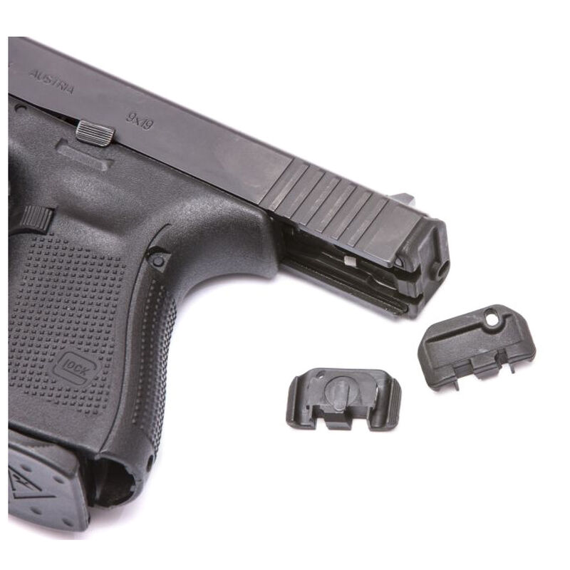 TangoDown Vickers Tactical Slide Racker fits Gen 1-4 GLOCK 17/19/22/23/26/27/34/35 Only Stainless Steel/Injection Molded Glass Reinforced Nylon Wing Shape Black