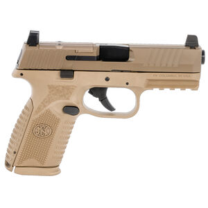 """FNH America FN 509 Midsize MRD 9mm Luger Semi Auto Pistol 4"""" Barrel 15 Rounds Red Dot Compatible Ambidextrous Controls Polymer Frame FDE"""