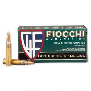 50 Rounds of Fiocchi Shooting Dynamics .223 Remington Ammunition 55 Grain FMJ Boat Tail Projectile 3240