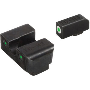 TRUGLO TFX Brite-Site Walther CCP Front and Rear Set TFO Green Night Sights Steel Black