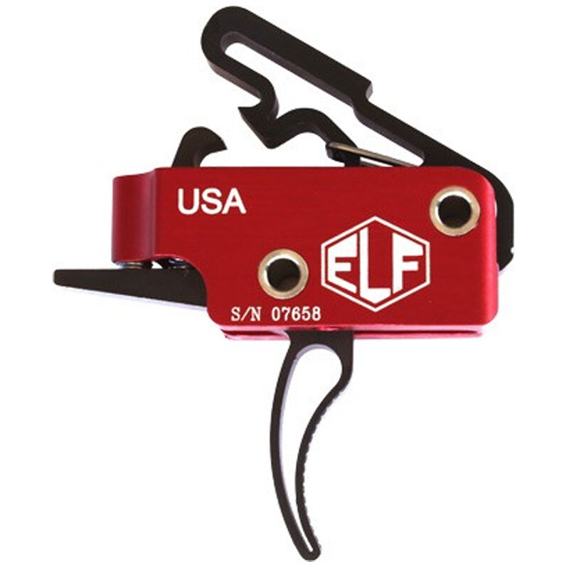 Elftmann Tactical AR-15 3 Gun Drop In Trigger Curved Shoe Adjustable Red/Black 3 GUN-C