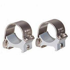 "Weaver 1"" Detachable Top Mount Rings Medium Thumbscrews Matte Silver 49032"