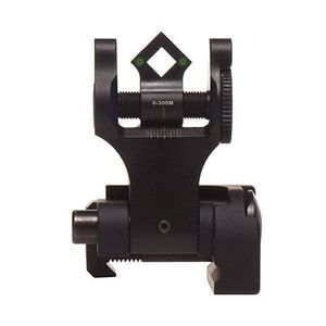 Troy BattleSight Rear Tritium Di-Optic Aperture (DOA) Folding Sight Black SSIG-FBS-TTBT-00