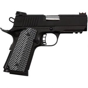 "Rock Island Armory TAC Ultra CS 1911 Semi Auto Pistol .45 ACP 3.625"" Barrel 7 Rounds Parkerized Steel Frame G10 Grips Accessory Rail Parkerized Finish"