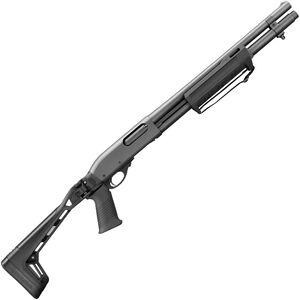 "Remington 870 Side Folder 20 Gauge Pump Action Shotgun 18.5"" Barrel 3"" Chamber 6 Rounds Accepts RemChoke Tubes Pistol Grip Side Folding Stock Matte Black"