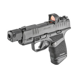 """Springfield Armory HELLCAT RDP 9mm Semi-Auto Pistol 3.8"""" Barrel HEX Wasp Red Dot Self Indexing Compensator 13 Rounds Black"""